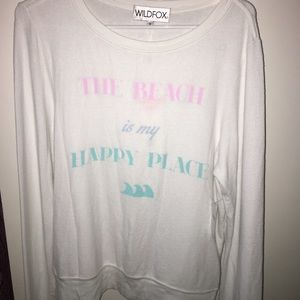 """Wildfox Sweaters - Wildfox Sweater """"The Beach is My Happy Place"""""""